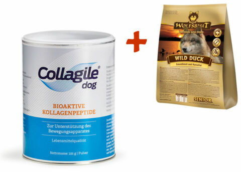 COLLAGILE DOG 225G WOLFSBLUT WILD DUCK SENIOR 500G GETREIDEFREI