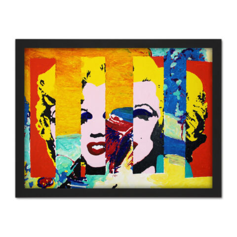 GILL 176 MARILYN IN THE SKY MODERNIST PAINTING LARGE FRAMED ART PRINT