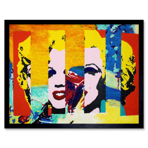 GILL 176 MARILYN IN THE SKY MODERNIST PAINTING FRAMED WALL ART POSTER