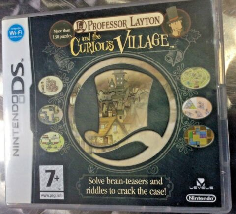 PROFESSOR LAYTON AND THE CURIOUS VILLAGE LEVEL 5 DS MORE THAN 130 PUZZLES