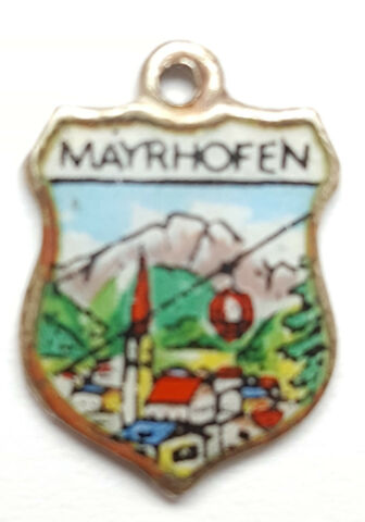 MAYRHOFEN ANH NGER WAPPEN BETTELARMBAND CHARMS SILBER 800