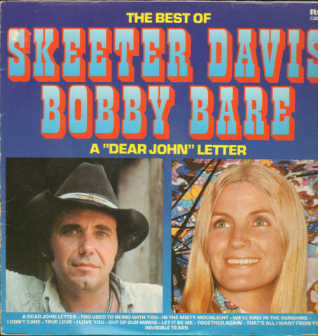 SKEETER DAVIS BOBBY BARE THE BEST OF LP VG