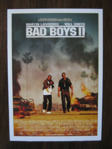 FILMPLAKATKARTE MOVIEPOSTERCARD BAD BOYS II M LAWRENCE WILL SMITH