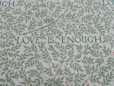 WILLIAM MORRIS CURTAIN FABRIC LOVE IS ENOUGH 3 4 METRES 340CM THYME PARCHMENT