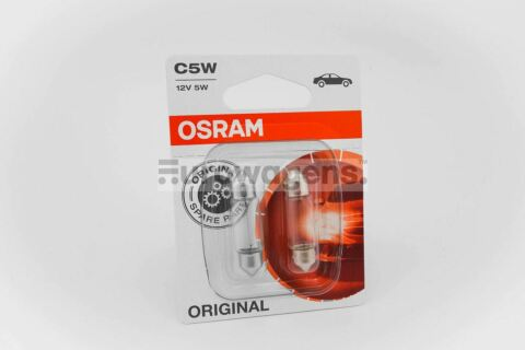 OSRAM C5W X 2 NUMBER PLATE INTERIOR LIGHT LAMPS BULBS 5W SV8 5 8 12V