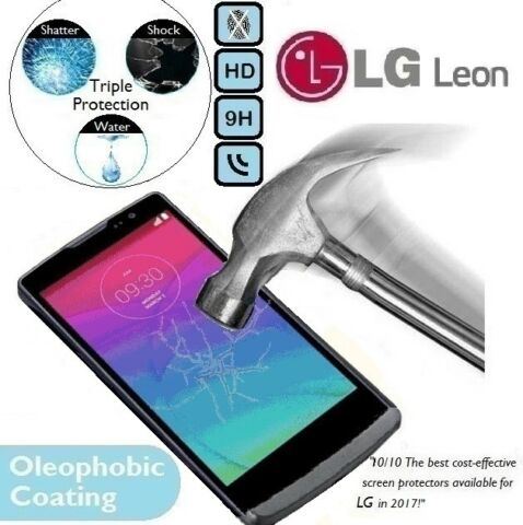 100 GENUINE TEMPERED GLASS PREMIUM 9H GUARD SCREEN PROTECTOR H340N FOR LG LEON