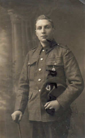 WW1 SOLDAT PTE ROBERT DICK 9TH ROYAL SCHOTTEN DANDY NEUNTE EDINBURGH FOTO