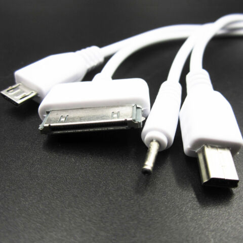 4 IN 1 AUTO USB 2 0 SYNC DATA CHARGER CABLE FOR IPHONE SAMSUNG S4 HTC AND NOKIA