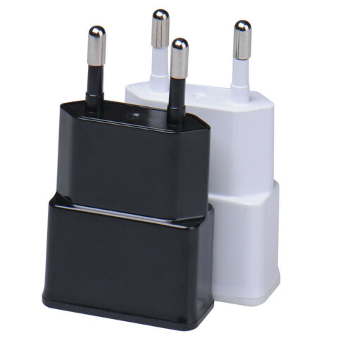 WEI SCHWARZ USB PORT 5V 2A WALL US EU PLUG AC CHARGER ADAPTER DATA CABLE