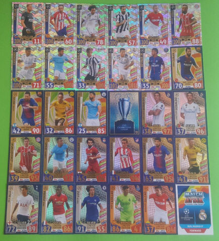 TOPPS MATCH ATTAX CHAMPIONS LEAGUE 2017 2018 CLUB 100 HAT TRICK HERO LIMITED
