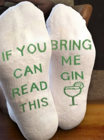 FUNNY SOCKS IF YOU CAN READ THIS BRING ME GIN SOCKS UK SELLER FIRST CLASS