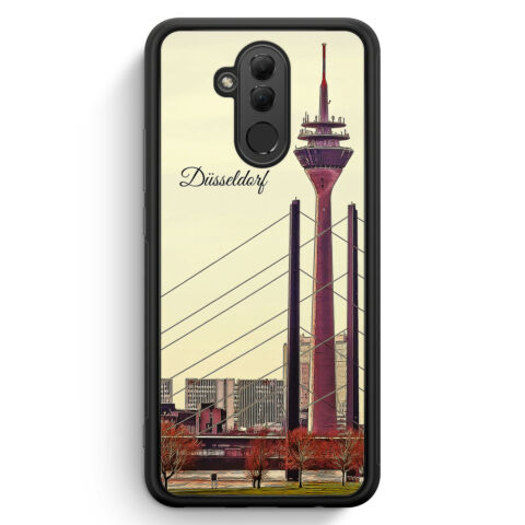 PANORAMA D SSELDORF HUAWEI MATE 20 LITE SILIKON H LLE COVER SKYLINE SILHOUETT