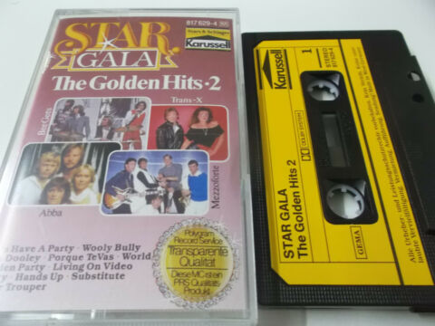 45688 STAR GALA THE GOLDEN HITS 2 MUSIKKASSETTE TRANS X ABBA LIME CLOUT