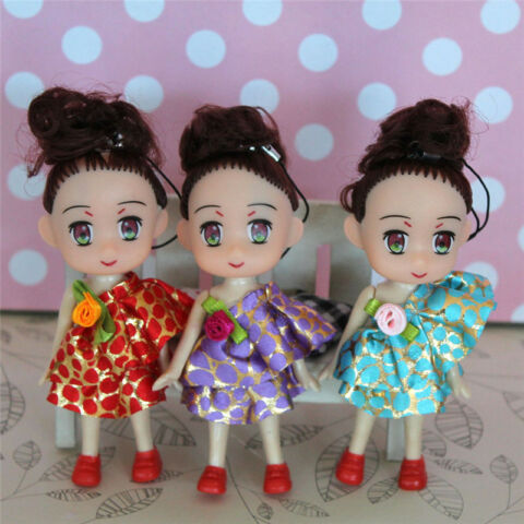 MIN BABY DOLLS PENDANT HANDBAG KEYCHAIN KEY CHAIN RING PENDANTS TOYS DECOR W0