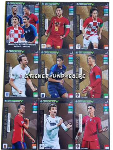 PANINI ROAD TO EURO 2020 ADRENALYN XL SONDERKARTEN RARE POWER UP FANS AUSSUCHEN
