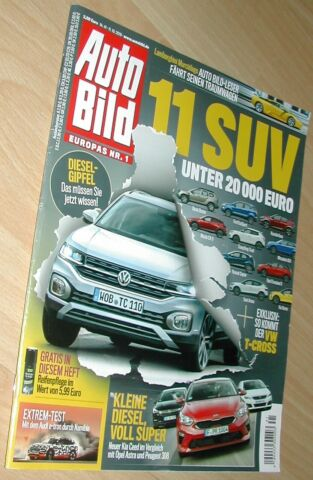 AUTO BILD NR 41 VOM 11 10 2018 U A VW T CROSS LAND ROVER DEFENDER GLC F CELL