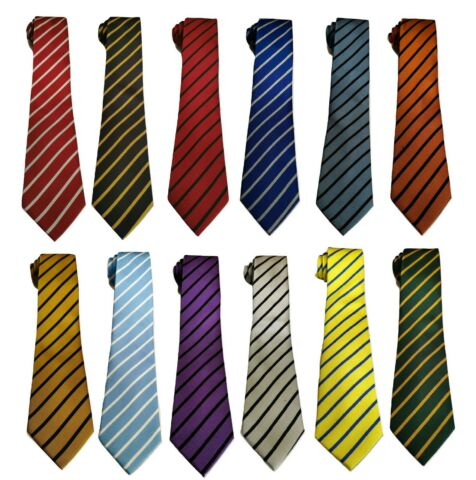 MENS BOYS SCHOOL UNIFORM FOOTBALL PROM PARTY STRIPED TIE