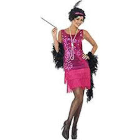 WOMENS FUN TIME FLAPPER 1920S 30S ART DECO 12 14 COSTUME FANCY DRESS OUTFIT