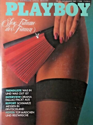 PLAYBOY 11 1981 AURORE CLEMENT LACK LEDER SUSAN M SMITH EROTISCH DREAM