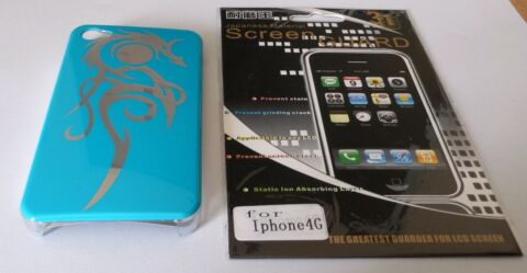 HANDY H LLE F R APPLE IPHONE 4 4S BUMPER T RKIS 1 SCHUTZ FOLIE