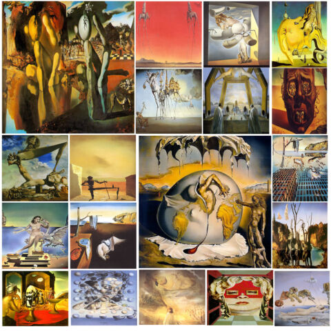 A3 SIZE SALVADOR DALI FAMOUS PAINTINGS SPANISH PAINTER POSTER GIFT ART
