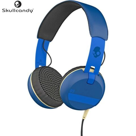 SKULLCANDY S5GRHT 454 BLUE ILL FAMED COLLECTION GRIND HEADPHONES W MIC BRAND NEW