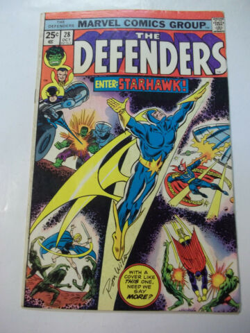 THE DEFENDERS 28 SIGNIERT VON ABDECKUNG K NSTLER RON WILSON FIRST FULL APP