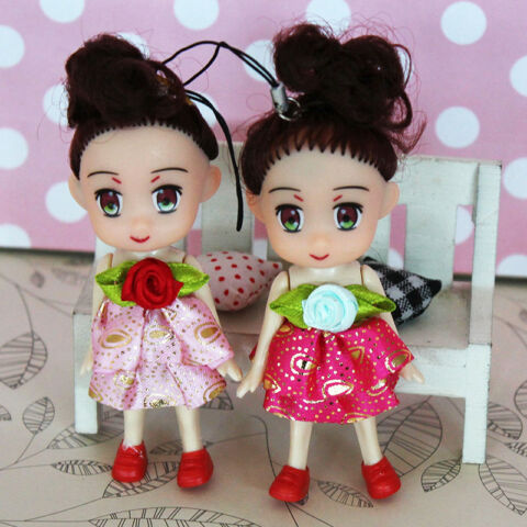 10CM PRINCESS GIRL DOLL KEY CHAIN KIDS BABY DOLLS KEYCHAIN TOYS KEYRING GIFT AB