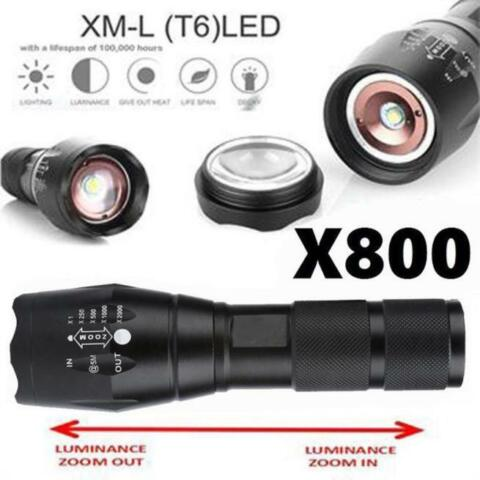 G700 X800 5000LM 5MODI ZOOMABLE XM L T6 LED 18650 SHADOWHAWK TASCHENLAMPEN TORCH