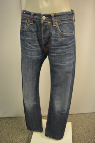 LEVIS 501 HERREN JEANS HOSE W31 L34 BLAU DENIM BUTTON FLY