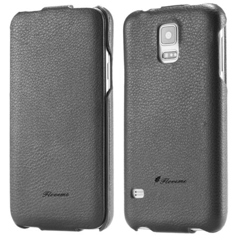 CASE FOR SAMSUNG GALAXY S5 FLIP LUXURY ELEGANT LEATHER CASE COVER