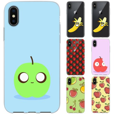 DESSANA CARTOON OBST TPU SILIKON SCHUTZ H LLE CASE HANDY TASCHE COVER F R APPLE