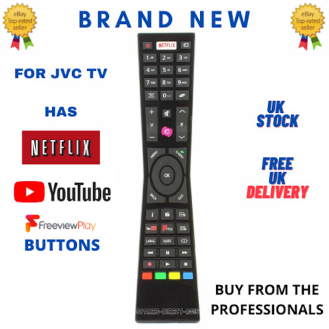 BUDGET REPLACEMENT RMC3231 RM C3231 REMOTE CONTROL FOR JVC SMART 4K LED TVS