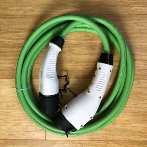 32 AMP EV ELECTRIC CAR CHARGING CABLE TYPE2 TO TYPE1 LEAF OUTLANDER