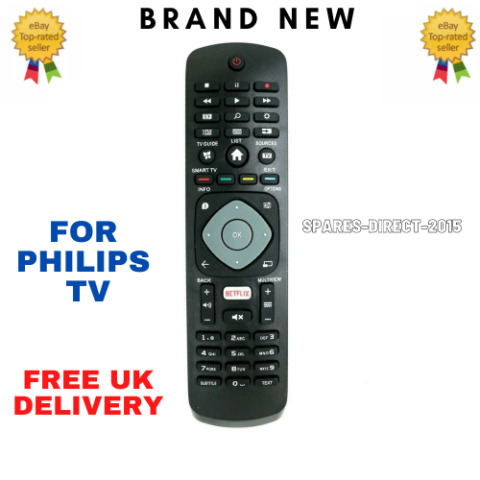 REPLACEMENT REMOTE CONTROL FOR PHILIPS 6000 SERIES ULTRA HD 4K SMART LED TVS