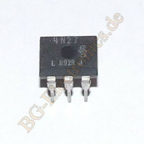 1 X 4N27 OPTOCOUPLER WITH PHOTOTRANSISTOR OUTPUT 150MW PHILIPS DIP 6 1PCS