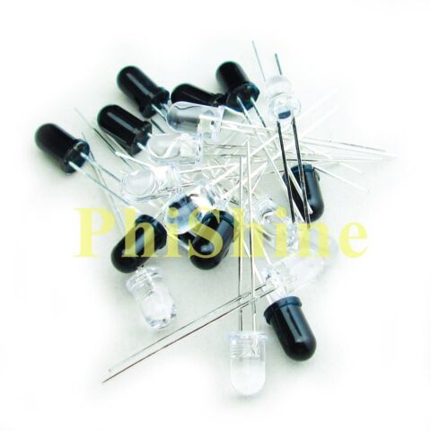 20PCS 940NM 5MM INFRARED DIODE IR LEDS 10 INFRARED EMITTER 10 RECEIVER