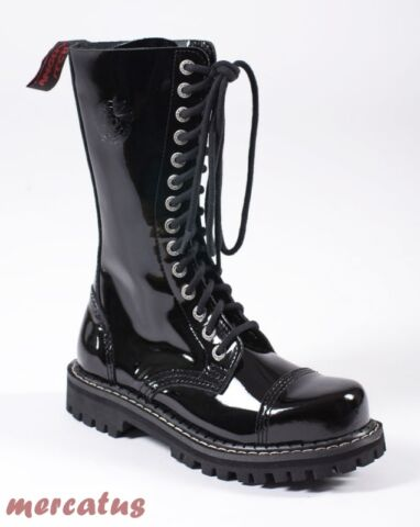 ANGRY ITCH 14 LOCH GOTHIC PUNK ARMY RANGER ARMEE LACKLEDER STIEFEL STAHLKAPPE