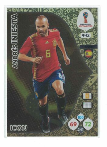 ANDRES INIESTA 442 ICON WORLD CUP RUSSIA 2018