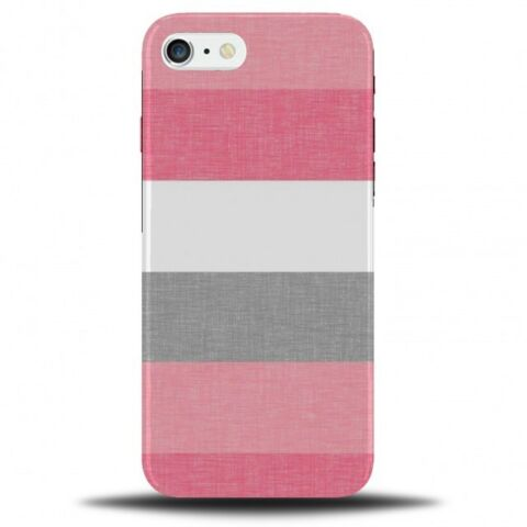 PINK GREY AND WHITE PATTERNED PHONE CASE COVER PATTERN STRIPES STRIPED B976