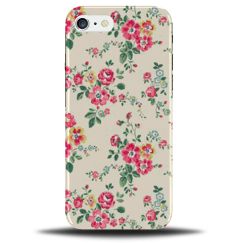 VINTAGE CREAM POLKA DOTTED FLORAL PHONE CASE COVER DOT DOTS PATTERN A976