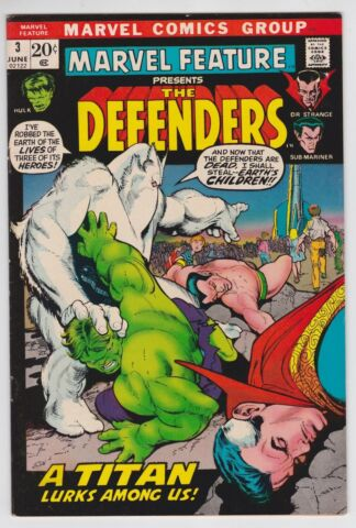 MARVEL MERKMAL 3 F VF 7 0 THE DEFENDERS HULK SUB MARINER DR SONDERBARE