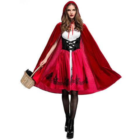 HALLOWEEN ROTK PPCHEN DAMEN SEXY COSPLAY KOST M ABENDKLEID PARTY OUTFIT UMHANG