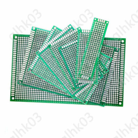 SINGLE SIDED PCB CIRCUIT BOARD UNIVERSAL FULL FIBER GLASS DRILLED HOLES 2 54MM