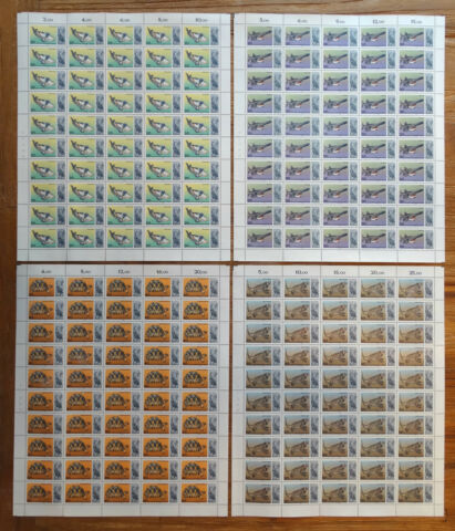 BERLIN 552 555 POSTFRISCH ZOO AQUARIUM KOMPL BOGEN SATZ FULL SHEET MNH