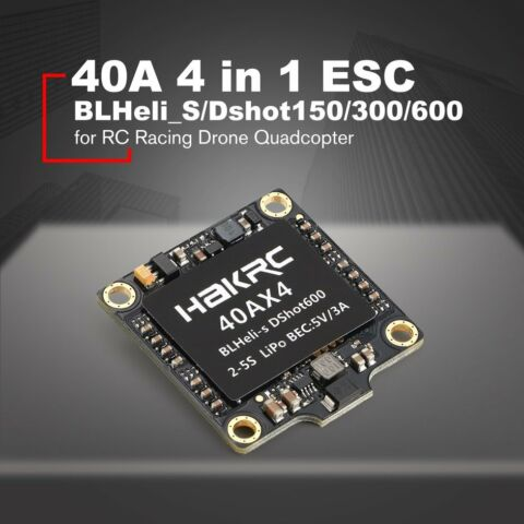 40A 4 IN 1 DSHOT150 300 600 ESC FOR RC RACING DRONE QUADCOPTER AC