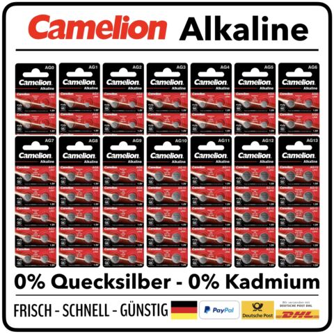 CAMELION KNOPFZELLE SILBEROXID AUSWAHL 1 5V 377 392 393 396 364 379