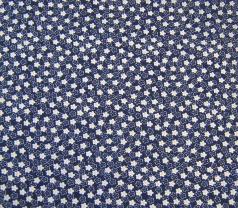 DAISY DANDY NAVY POLYCOTTON FABRIC YOU ONLY PAY ONE COMBINED POSTAL CHARGE