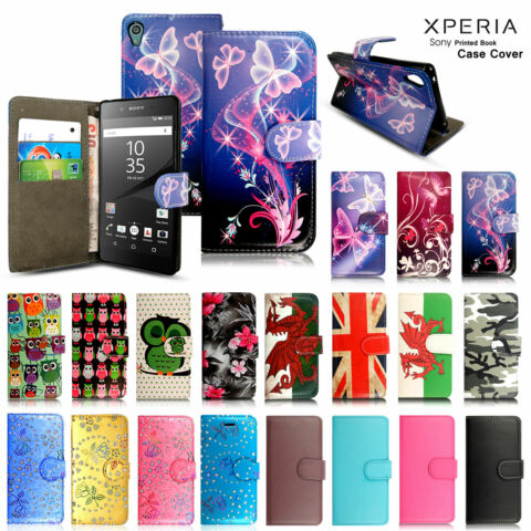 FOR SONY XPERIA X XA XA1 L1 L2 XA2 XZ XZ2 E3 E4 E4G LEATHER WALLET PHONE CASE