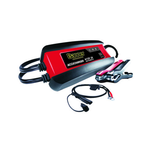 BANNER ACCU CHARGER 6V 12V 2A BATTERIELADEGER T VOLLAUTOMATISCHES LADEGER T